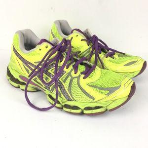 Asics Gel Nimbus 15 Womens Size 8 Yellow / Purple